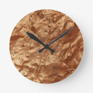 Chocolate cover of a cake round clock