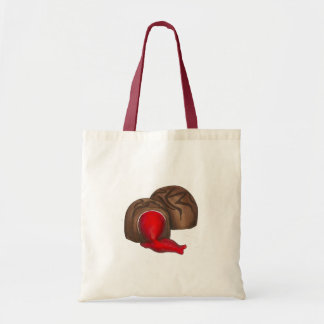 Chocolate Covered Cherry Valentine's Day Tote Budget Tote Bag