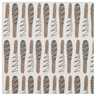 Chocolate Covered Dipped Pretzel Rods Sticks Salty Fabric