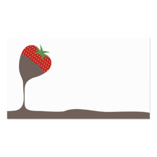 chocolate covered dipped strawberry chef catering pack of standard business cards