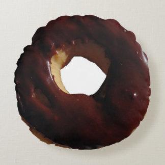 Chocolate covered doughnut pillow