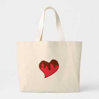 Chocolate Covered Heart Canvas Bag