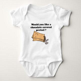chocolate covered pretzels baby bodysuit