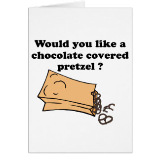 chocolate covered pretzels card