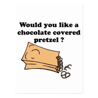 chocolate covered pretzels postcard