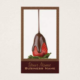 Chocolate Covered Strawberries Business Cards
