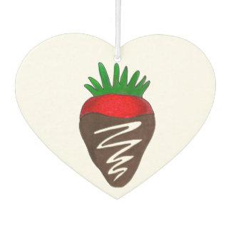 Chocolate Covered Strawberry Berry Chocoholic Food Car Air Freshener