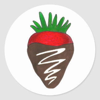 Chocolate Covered Strawberry Valentine's Day Berry Classic Round Sticker