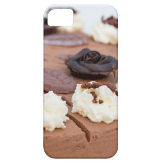 Chocolate cream cake with cake lace in detail case for the iPhone 5