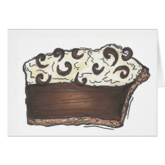 Chocolate Cream Diner Pie Slice Foodie Dessert Card