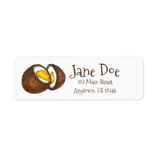 Chocolate Cream Easter Basket Egg Candy Label