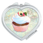Chocolate Cupcake and Pink Roses