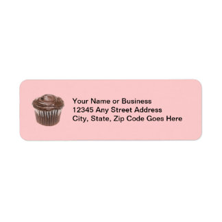 Chocolate Cupcake Custom Name Return Address Label