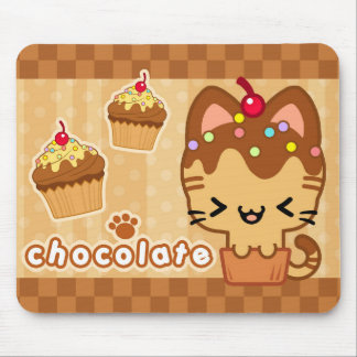 Chocolate Cupcake Kitty Mousepad