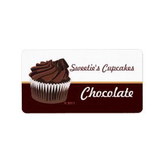 Chocolate Cupcake Labels