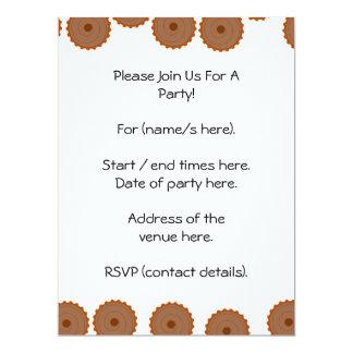 Chocolate Cupcake Pattern. 17 Cm X 22 Cm Invitation Card