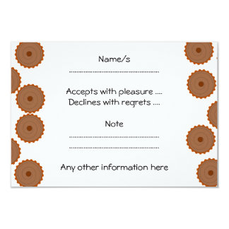 Chocolate Cupcake Pattern. 9 Cm X 13 Cm Invitation Card