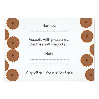 Chocolate Cupcake Pattern. 9 Cm X 13 Cm Invitation Card