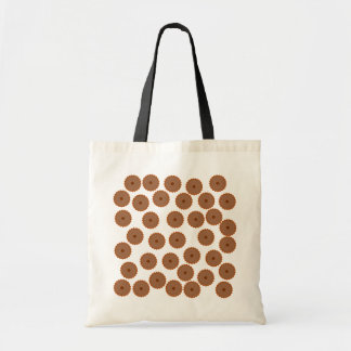Chocolate Cupcake Pattern. Budget Tote Bag