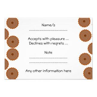 Chocolate Cupcake Pattern Custom Invite