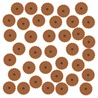 Chocolate Cupcake Pattern. Photo Cut Outs