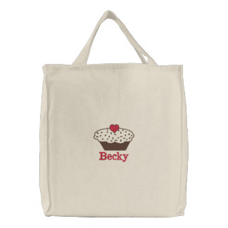 chocolate Cupcake Personalized Embroidered Bag