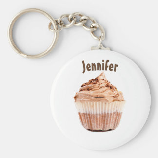 Chocolate Cupcake Personalized Keychain or Keyring