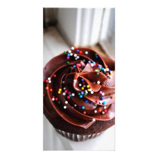 Chocolate Cupcake Photograph Photo Cards