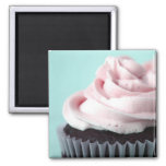 Chocolate Cupcake Pink Vanilla Frosting Magnets