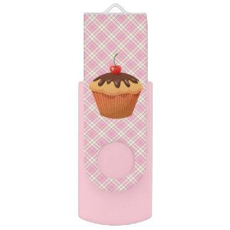 Chocolate cupcake swivel USB 2.0 flash drive