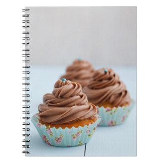 Chocolate cupcakes spiral notebook