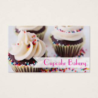 Chocolate Cupcakes Sprinkles Vanilla Frosting Business Card