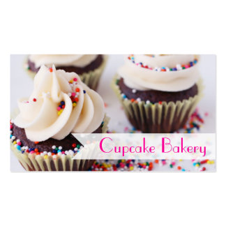 Chocolate Cupcakes Sprinkles Vanilla Frosting Pack Of Standard Business Cards