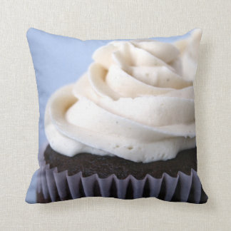 Chocolate Cupcakes Vanilla Frosting Throw Pillow