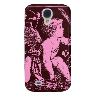 Chocolate cupid with wheat stalk vintage print samsung galaxy s4 case