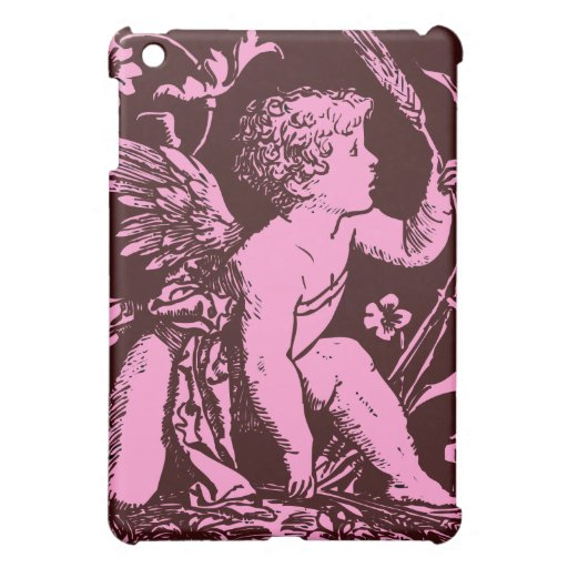 Chocolate cupid with wheat stalk vintage print cover for the iPad mini