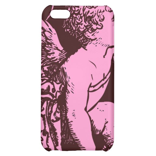 Chocolate cupid with wheat stalk vintage print iPhone 5C cases