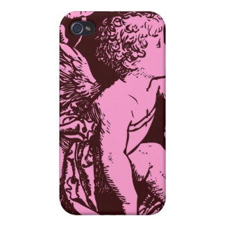 Chocolate cupid with wheat stalk vintage print case for iPhone 4