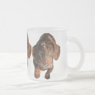 Chocolate Dapple Dachshund Frosted Mug