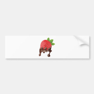 Chocolate Dipped Strawberry Bumper Sticker