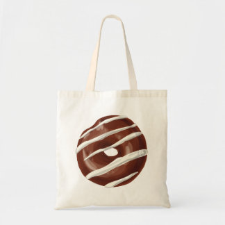 Chocolate Dipped with Vanilla Frosting Doughnut. Tote Bag