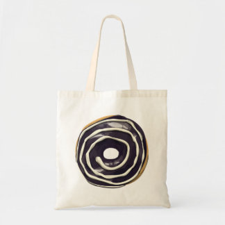 Chocolate Dipped with Vanilla Swirl Doughnut. Tote Bag