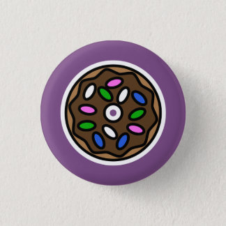 Chocolate Donut 3 Cm Round Badge