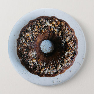 Chocolate Donut Button