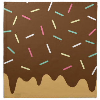 Chocolate Donut Napkin