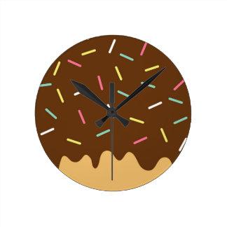 Chocolate Donut Round Clock