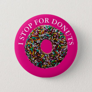 Chocolate Donut with colorful sprinkles 6 Cm Round Badge