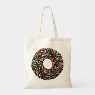 Chocolate Donut with colorful sprinkles Tote Bag
