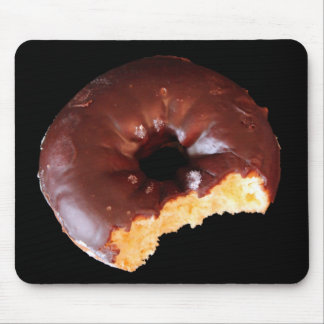 Chocolate Donut With Large Bite Photo Mousepad