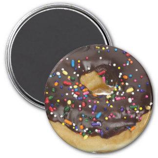 Chocolate  Doughnut Refrigerator or Locker Magnet